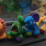 plastic monkey toy set